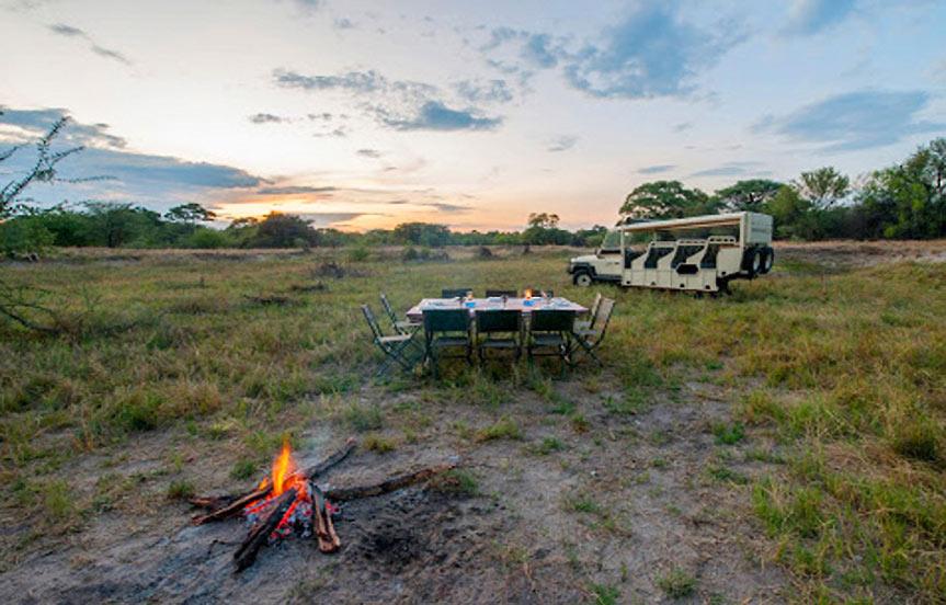 Safari au Bostwana en camping de luxe