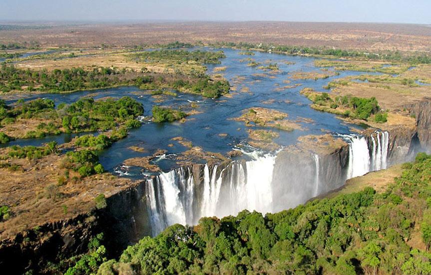 Les chutes Victoria , version Zambie