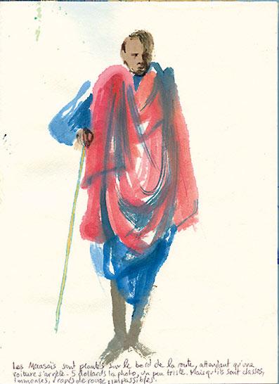 Safari dessin en Tanzanie